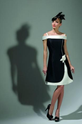 Abito da sera bianco e nero - Abito da sposa di lusso